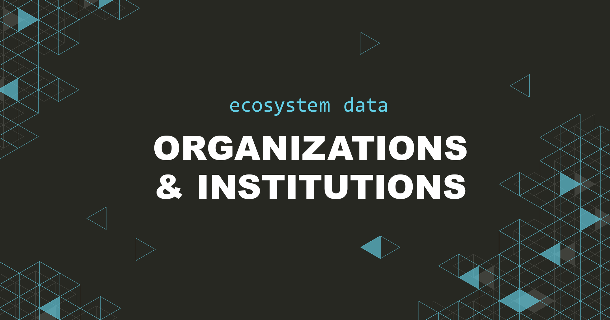 , Organisations and Institutions