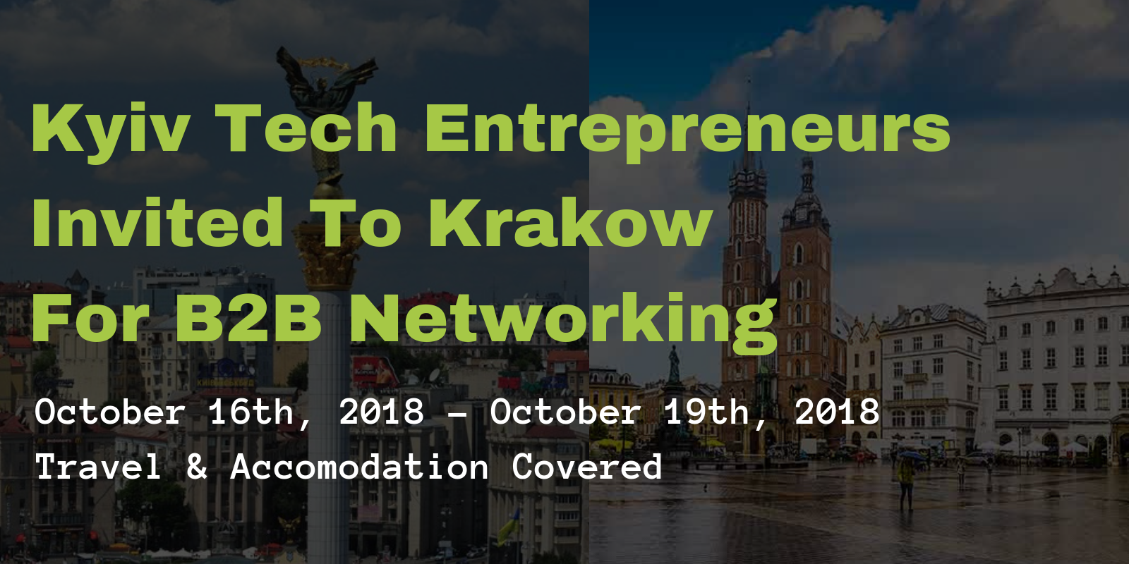 , The Weekly Pitch, October 15th: Kraków Startup Week With #OMGKRK