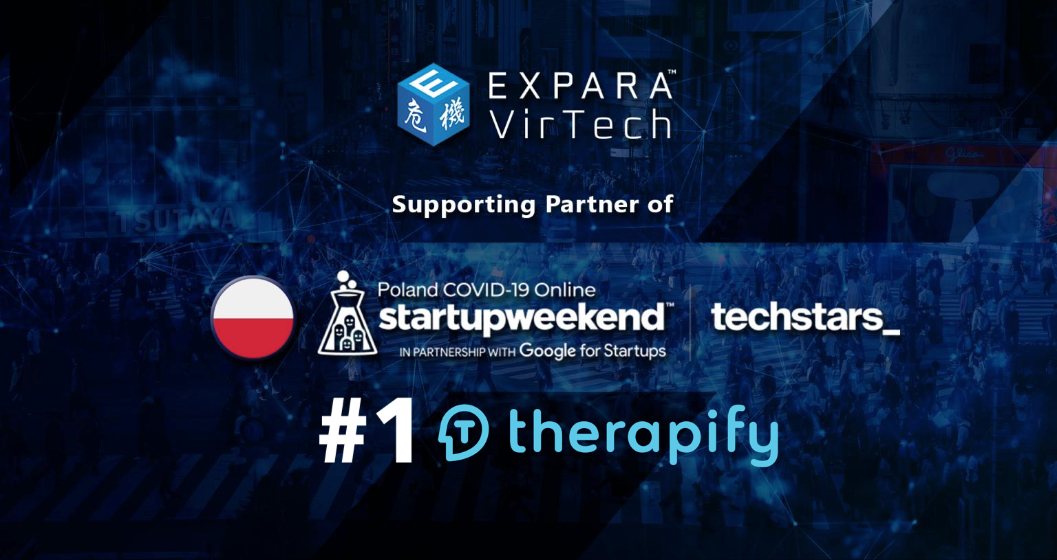, Therapify won the Polish edition of Techstars Startup Weekend as a solution for the mental health industry during and post COVID19 pandemic!